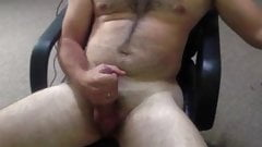 Cumming in my office chair