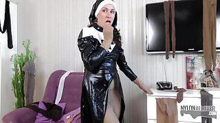 Nun prays for more pantyhose encasement