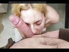 Young blonde deepthroat and anal