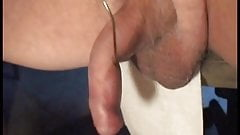 Gay cumming from wires