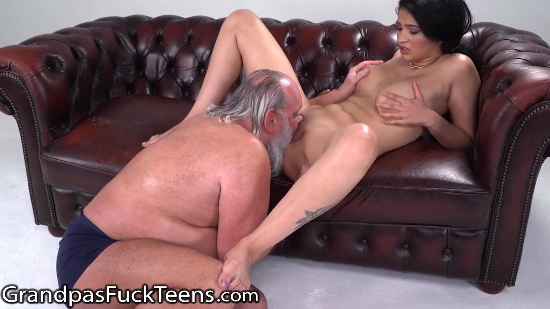 GrandpasFuckTeens Outdated Man Barely Pulls Out of Busty Teen
