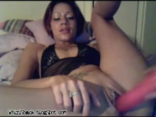 latina squirting in front of webcam