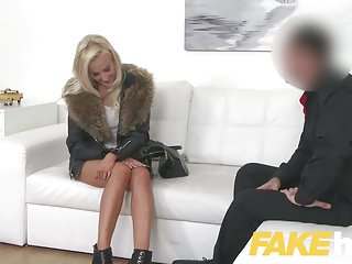 Fake Agent Euro chick loves giving tit wank and blowjob