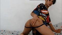 Twerking sissy boy