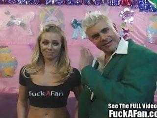 Sexy all natural blonde Nicole Anniston fucks her fan Rusty
