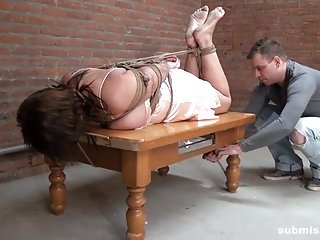 Submissed.com sexy busty mom hogtied
