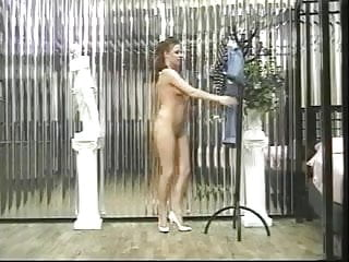 Petite little whore strips down naked