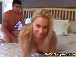 My MILF Exposed Blonde busty MILF fucked Homemade footage
