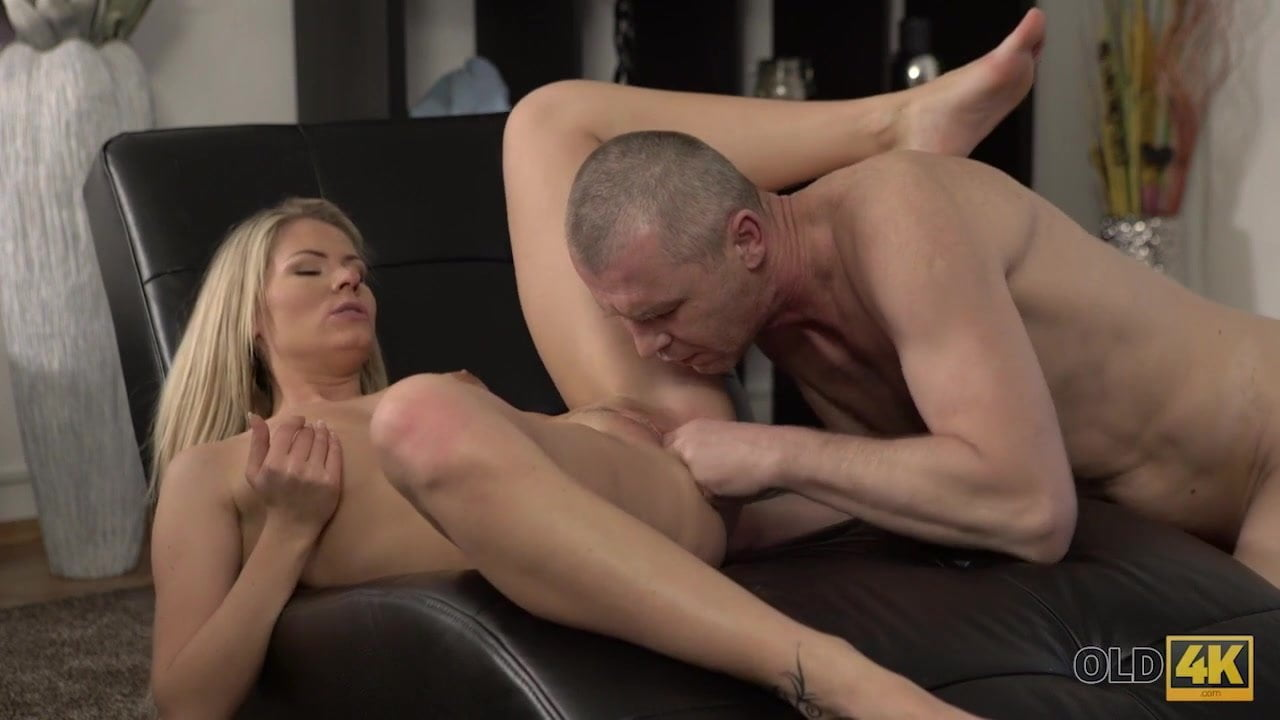 Playful blonde wanted to have fun with her older inamorato
