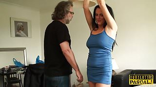 Facefucked mature britt gaggs on her bigtits