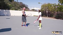 SheDoesAnal - Tennis Babe Ana Foxxx Anal Lessons With Coach