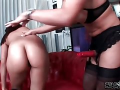 PinkOShemales Shemale fucking an Asian whore in the ass