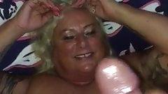 Granny Donna cumshot
