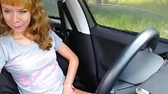 Milf streams outside in the car squirts in the end 3