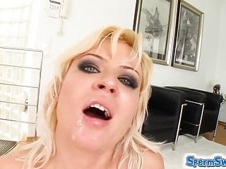 Preview 6 of Blonde and brunette have more fun with two guys