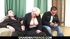 Picked up blonde grandmother double penetration's Thumb