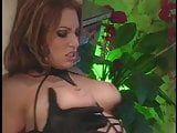 Gorgeous brunette with amazing tits gets her ass pounded, takes a cumshot
