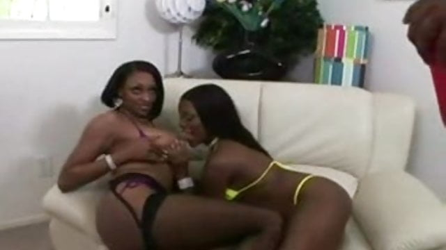 Same sex couples delotta brown and carmen hayes threesome