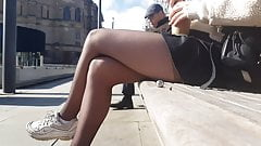pantyhose teen candid
