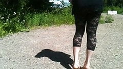 Flashing CD in leggings
