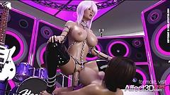 Лесбиянка футанари, девушка, группа трахается на сцене