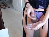 Amateur Tgirl cum in live cam bedroom