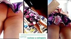 culona en mini vestido de flores thumb