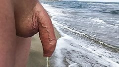 Penis and piss close-up