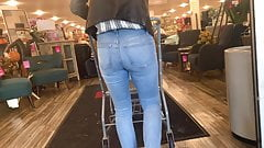 Sexy MILF Faded Blue Jeans