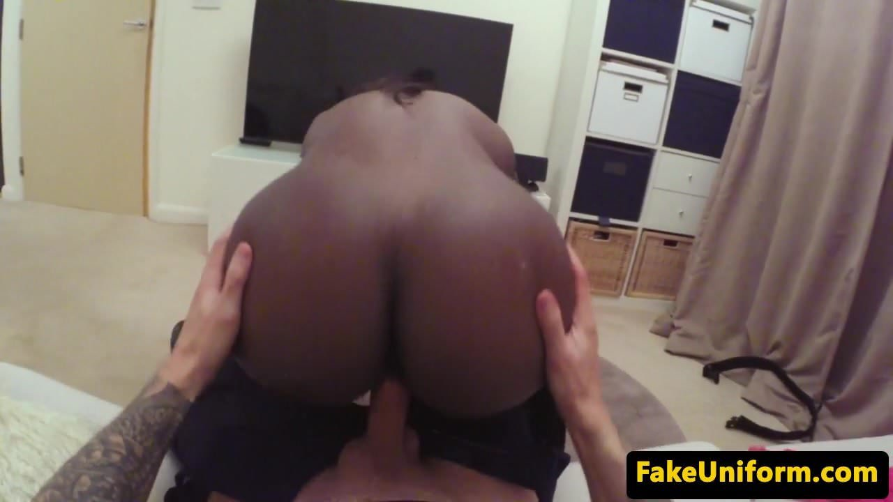 image British cop pulls ebony babe for pussyfucking