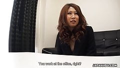 Suzuki fucked at the office then cum drenched for the hell o