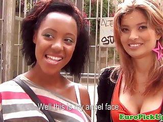 Pulled spanish ethnic babes swap jizz