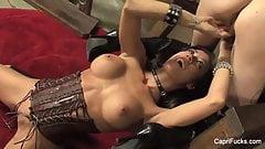 Sexy Capri pleases her hot tattooed friend Cadence