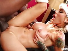 Christmas fucking with hot MILF Sarah and a BBC