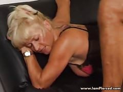 I am Pierced Mature in sexy lingerie and stockings Pierced p