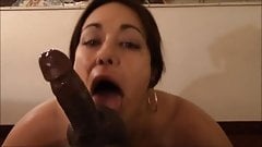 Lady getting the nut