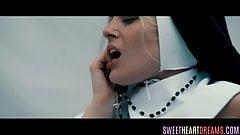 Lesbian teen fingered by sapphic nun