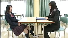 Little Asian Schoolgirl Thoroughly Dominates LesbianTeacher's Thumb