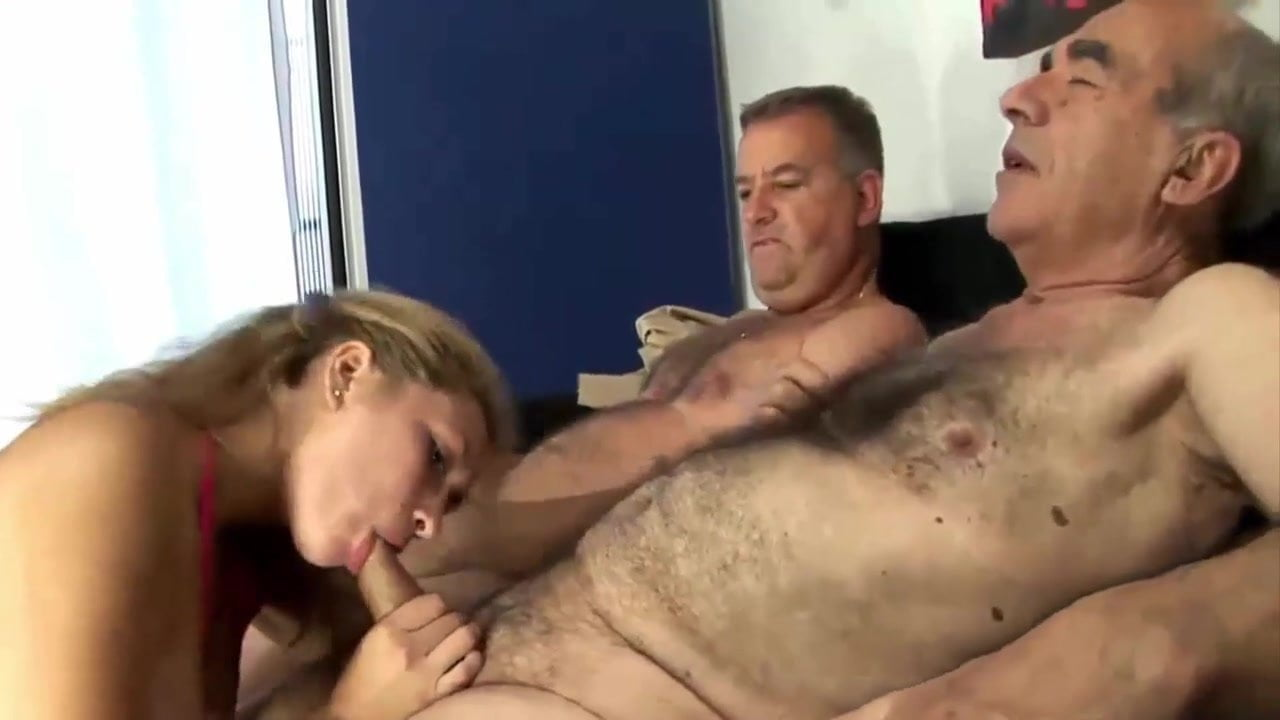 Husband Sharing His Lovely Sexy Wife With Old Granpa Es-8798
