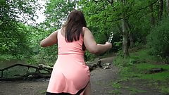 Fun in the British woods of Derbyshire