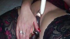 Check My MILF Sexy mature wife in stockings with toys
