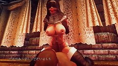 3D Oblivion Futanari Dance - L