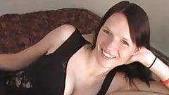 Slender Brunette Anal Creampie