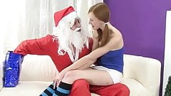 Teen Girl gets a Christmas Lollypop and Dick