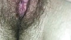 Playing With My Girlfriend's Hairy Pussy