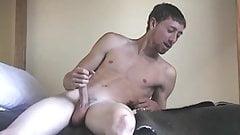 Hot homosexual enjoys a solo wanking to his fav magazine