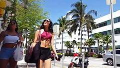 Candid voyeur bikini top with cheeky shorts hot teen