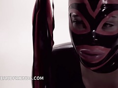 Mistress Shemale Bruna Venchy dominate and fucks hard slave