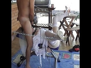 Chained Bride Fucked Cum Faced