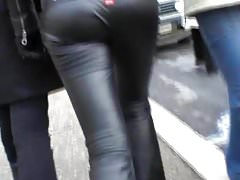 sexy leather pants walking's Thumb
